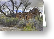 Rich Colors Greeting Cards - Frontier Homestead Greeting Card by David Jefferis