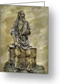 Trader Greeting Cards - Frontiersman Camp Trader  Greeting Card by Randy Steele