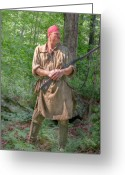 Frontier Art Greeting Cards - Frontiersman Scout    Greeting Card by Randy Steele