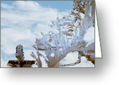 Frost Greeting Cards - Frost on Glass see a Cross Greeting Card by The Kepharts