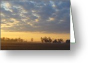  Landscape Greeting Cards - Frosty Spring Sunrise Greeting Card by Peggy King