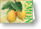 Lemons Greeting Cards - Froyo Lemon Greeting Card by Debbie DeWitt