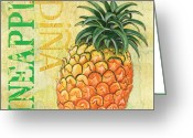 Produce Greeting Cards - Froyo Pineapple Greeting Card by Debbie DeWitt