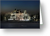 Scenery Greeting Cards - Frozen Boldt Castle Greeting Card by Lori Deiter