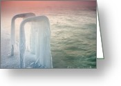 Twilight Greeting Cards - Frozen Greeting Card by Evgeni Dinev