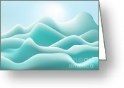 Gradations Digital Art Greeting Cards - Frozen Landscape Greeting Card by Dave Gordon