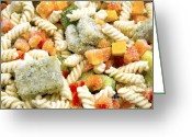 Chill Greeting Cards - Frozen Pasta Greeting Card by Fabrizio Troiani