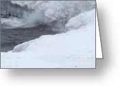 Ices Greeting Cards - Frozen Waves Greeting Card by Deborah Smolinske