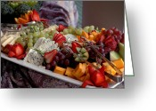 Melon Greeting Cards - Fruit and Cheese Greeting Card by Frank Mari