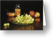 Cocktails Pastels Greeting Cards - Fruit Cocktail Greeting Card by Barbara Groff
