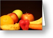 Mango Greeting Cards - Fruit Dreams After Mid-Night Greeting Card by Andrea Nicosia