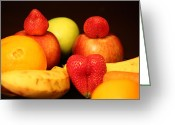Mango Greeting Cards - Fruit Dreams Before Daybreak Greeting Card by Andrea Nicosia