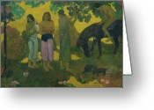 Gauguin Greeting Cards - Fruit Gathering Greeting Card by Paul Gauguin