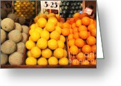 Dessert Digital Art Greeting Cards - Fruit Market - Painterly - 7D17401 Greeting Card by Wingsdomain Art and Photography