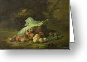 Still Life Sculpture Greeting Cards - Fruit of Life Greeting Card by Boz  Vakhshori