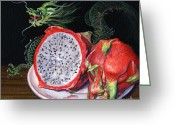 Lynette Cook Greeting Cards - Fruit of the Dragon Greeting Card by Lynette Cook