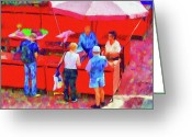 Umbrella Digital Art Greeting Cards - Fruit of the Vendor Greeting Card by Jeff Kolker