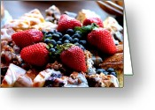 Brunch Greeting Cards - Fruit Snack Greeting Card by Karen M Scovill