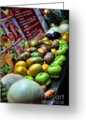 Watermelon Photo Greeting Cards - Fruit Stand Greeting Card by Paul Ward