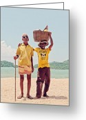 Shirts Greeting Cards - Fruit Vendors Greeting Card by Benjamin Matthijs