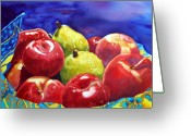 Linen Greeting Cards - Fruitfully Yours Greeting Card by Gerald Carpenter