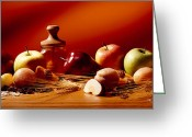 Apricots Photo Greeting Cards - Fruits and Grains Greeting Card by Brian Brown