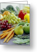 Broad-bean Greeting Cards - Fruits And Vegetables Greeting Card by David Munns