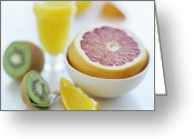 Food And Beverage Greeting Cards - Fruits Greeting Card by David Munns
