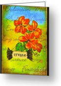 Sunny Days Greeting Cards - Fruits of The Spirit Greeting Card by Angela L Walker