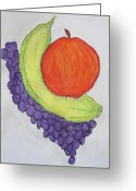 Tasty Pastels Greeting Cards - Fruits Greeting Card by Vivekanand Murthy