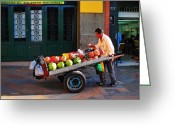Street Vendor Greeting Cards - Fruta Limpia Greeting Card by Skip Hunt