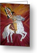 Renegade Greeting Cards - FSU majestic spirit Greeting Card by Marcus Hudson