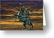 Renegade Greeting Cards - FSUs Unconquered Renegade and Osceola Greeting Card by Frank Feliciano