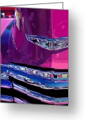 Photorealism Digital Art Greeting Cards - Fuchsia and Chrome Greeting Card by Bob Nolin