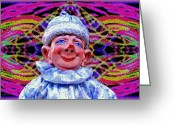 Surrealism Sculpture Greeting Cards - Fud The Magnificent Greeting Card by David Wiles