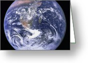Earth Map Greeting Cards - Full Earth Greeting Card by Stocktrek Images