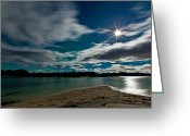 Canon 5d Mk2 Greeting Cards - Full moon Greeting Card by Frank Olsen