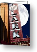 San Rafael Greeting Cards - Full Moon Over The Lark - Larkspur California - 5D18489 Greeting Card by Wingsdomain Art and Photography