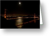 Night Shots Greeting Cards - Full Moon Rising Greeting Card by Bill Gallagher