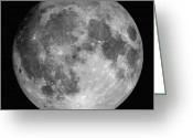 Background Greeting Cards - Full Moon Greeting Card by Roth Ritter