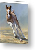 Running Horse Painting Greeting Cards - Full of Potential Greeting Card by Alecia Underhill