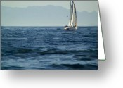 Huisken Greeting Cards - Full Sails Greeting Card by Lyle  Huisken