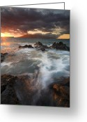 Tides Greeting Cards - Full to the Brim Greeting Card by Mike  Dawson