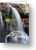 Childs Greeting Cards - Fulmer Falls Greeting Card by Paul Ward
