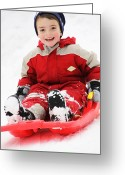 Snow Board Greeting Cards - Fun at Snow Greeting Card by Paulo Neves