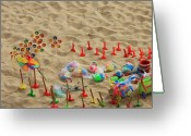Kid Photo Greeting Cards - Fun at the Beach Greeting Card by Carol Groenen