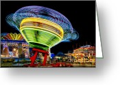 Fairgrounds Greeting Cards - Fun At The Fair Greeting Card by Susan Candelario