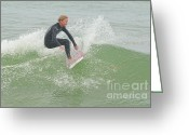 Kid Photo Greeting Cards - Fun Day Surfing Greeting Card by Deborah Benoit
