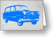 Iconic Design Greeting Cards - Funny Car Greeting Card by Irina  March