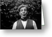 Black Tie Greeting Cards - Funny Face Greeting Card by General Photographic Agency